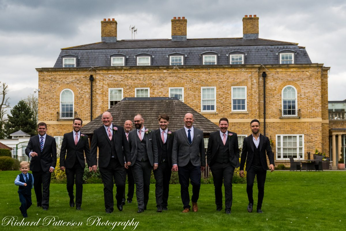 South Ockendon, Thurrock, Essex Wedding Photographer, Orsett Hall Hotel Essex Wedding, Groom and the guys wedding photograph